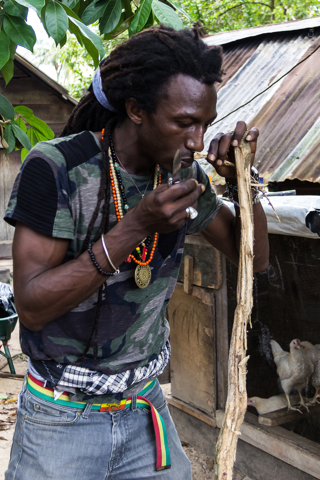 (Koina traditional Afro-Surinamese village, Para District, Suriname) - Sergio Darius Tribal Shaman